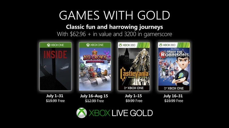 Games With Gold Julho de 2019