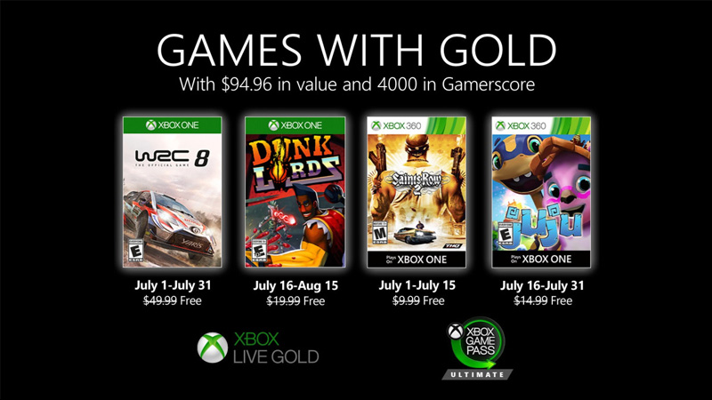 Games With Gold - Julho de 2020