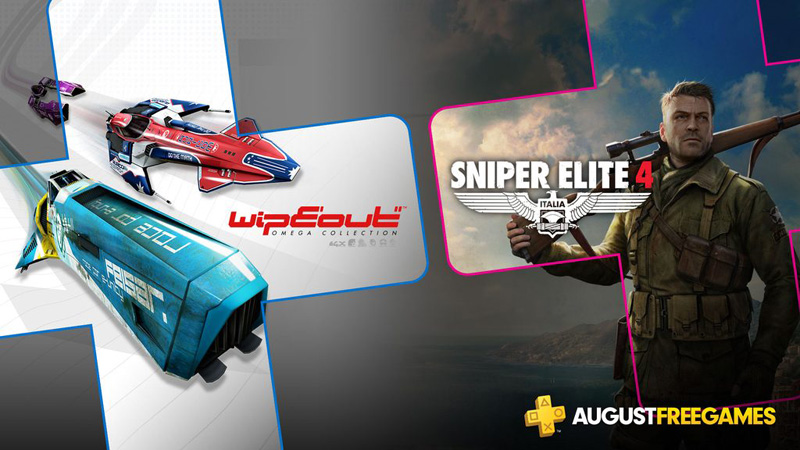 PSN Plus terá Wipeout Omega Collection e Sniper 4 Elite em agosto de 2019