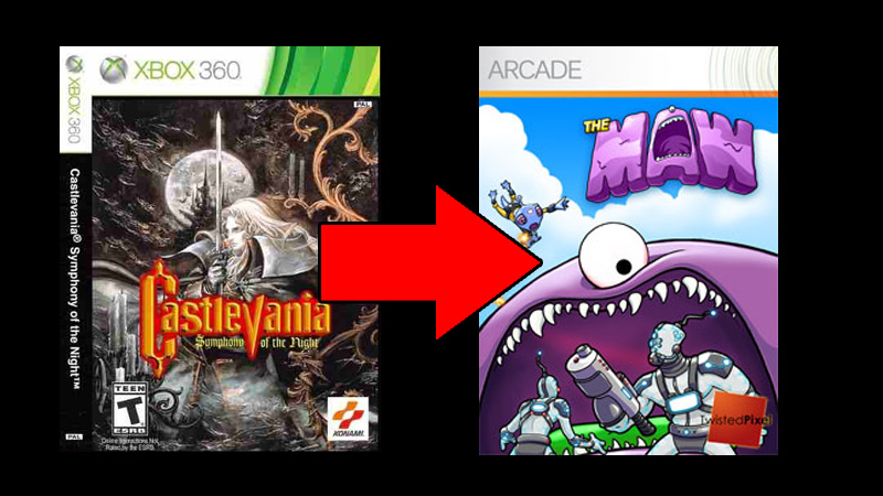Castlevania - Symphony Of The Nigth é trocado por The Maw na Games With Gold